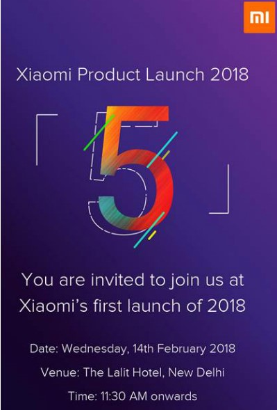 invitee for Redmi 5 Series