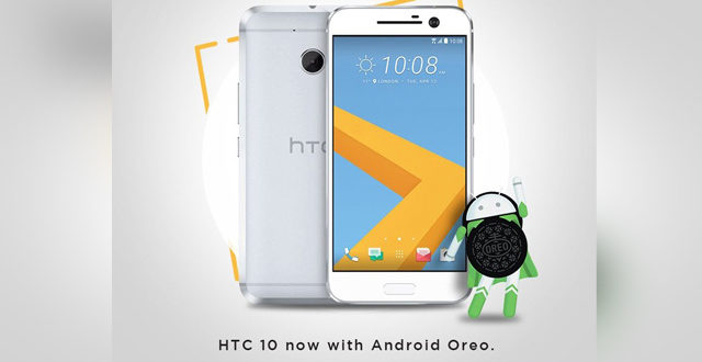HTC 10 Receives Android 8.0 Oreo Update