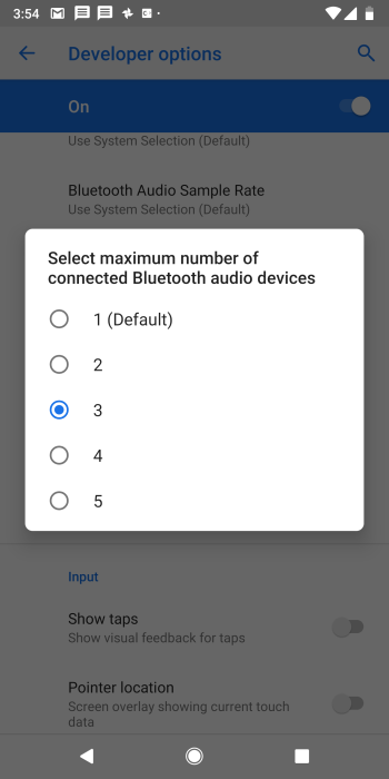 Android P Lets You Connect 5 Bluetooth Devices at Once
