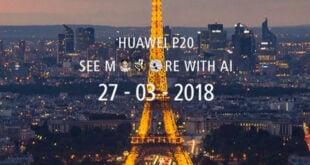 Huawei P20 Launch Date