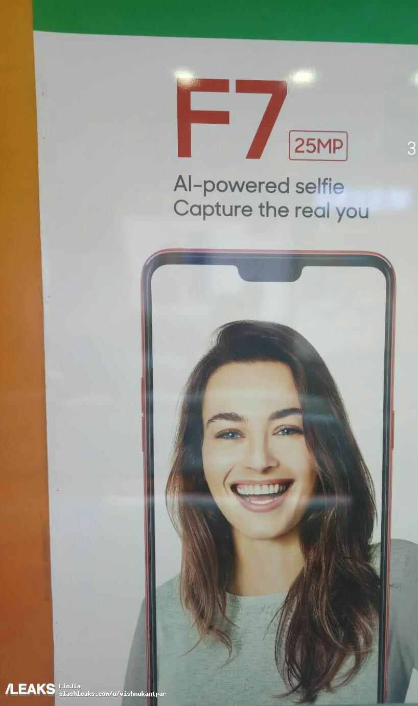 Oppo F7 Leaked Poster | Photo Credit: Slashleaks