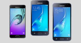 Galaxy J1, Galaxy J3 and Galaxy A3 (2016)