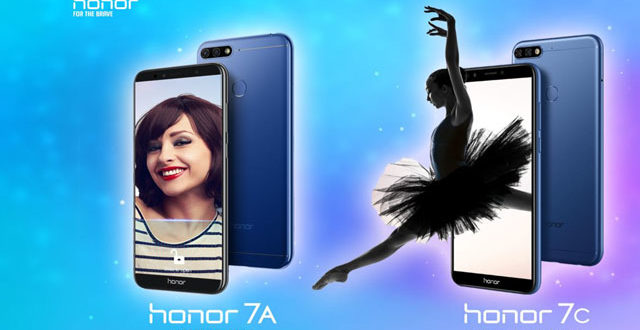 Honor 7A and Honor 7C Launched in India with Dual Rear Cameras