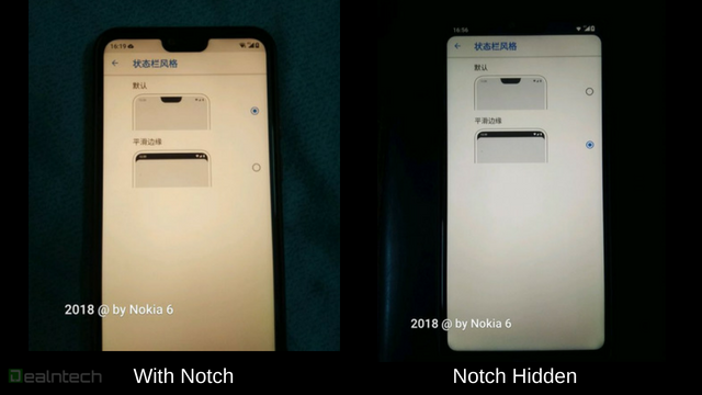 Nokia X6 notch hide
