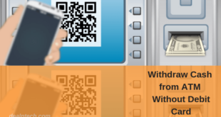 generate qr code withdraw cash atm