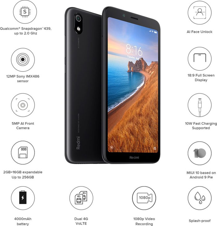 Redmi 7A Specifications