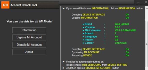 Bypass Cloud Verification via Unlock Tool