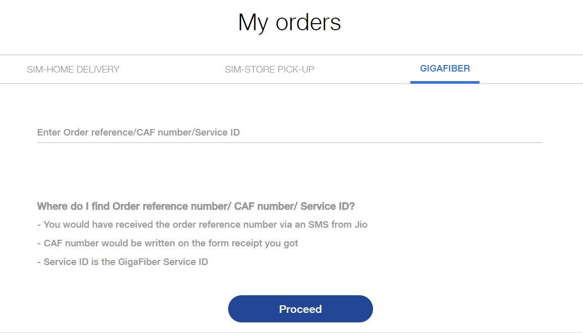 fiber order status check