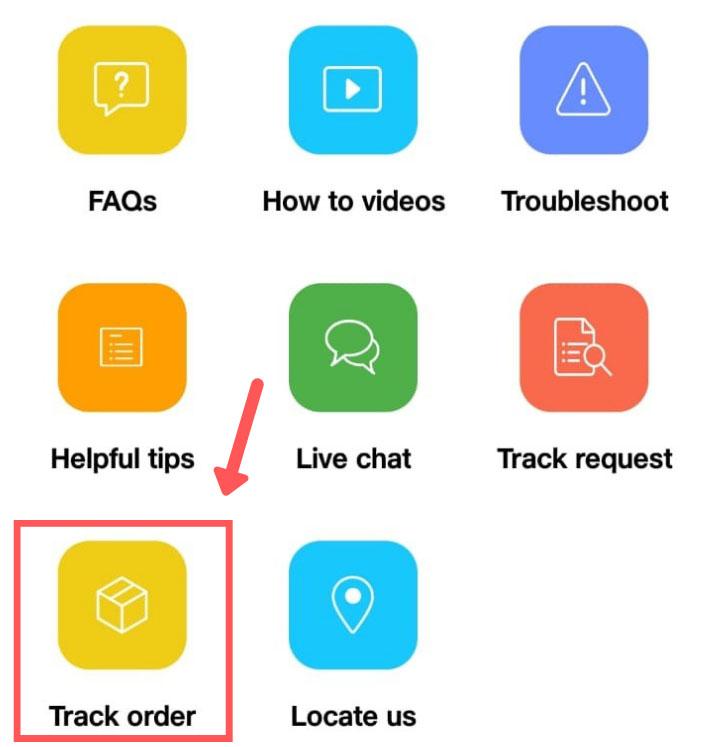track order status on myjio app