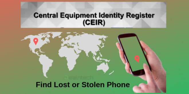 CEIR Portal find phone