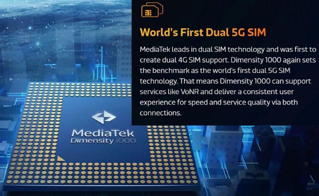 MediaTek support 5G on Dual SIM
