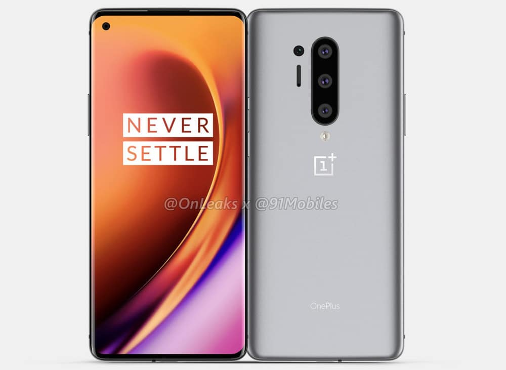 OnePlus 8 Pro Leaked Render shows back front