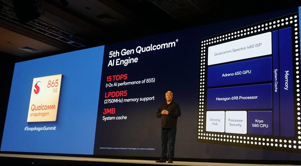 AI performance on Snapdragon 865