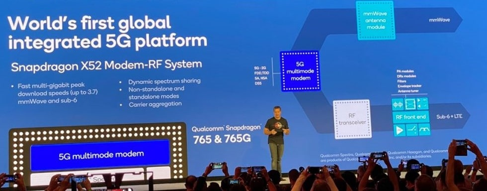 Snapdragon 765's x52 modem