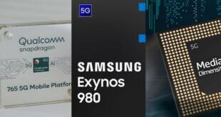 Snapdragon 765G Vs Exynos 980 Vs Dimensity 1000L