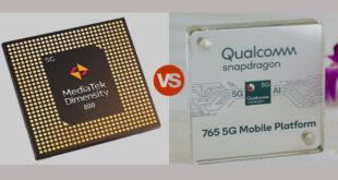 MediaTek Dimensity 800 vs Snapdragon 765G