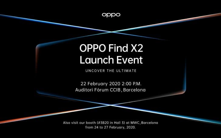 find x2 launch event